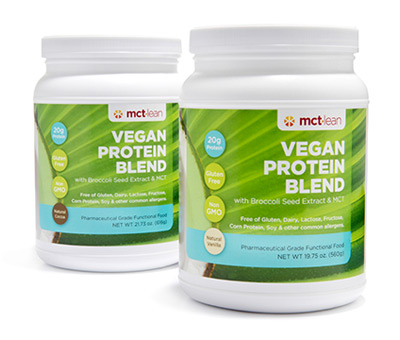 MCT Lean vegan protein powder
